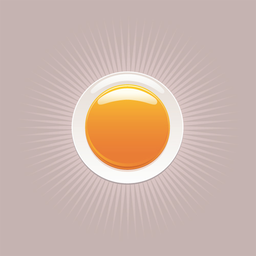 free vector Round orange crystal material