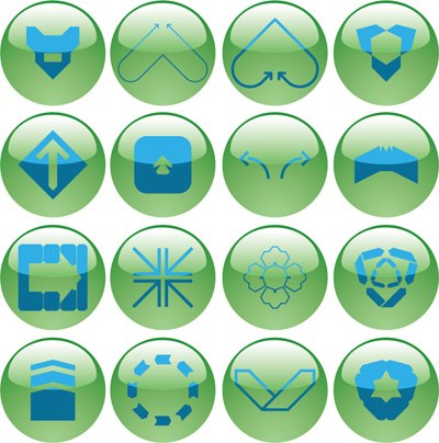 free vector Rounded crystal icon