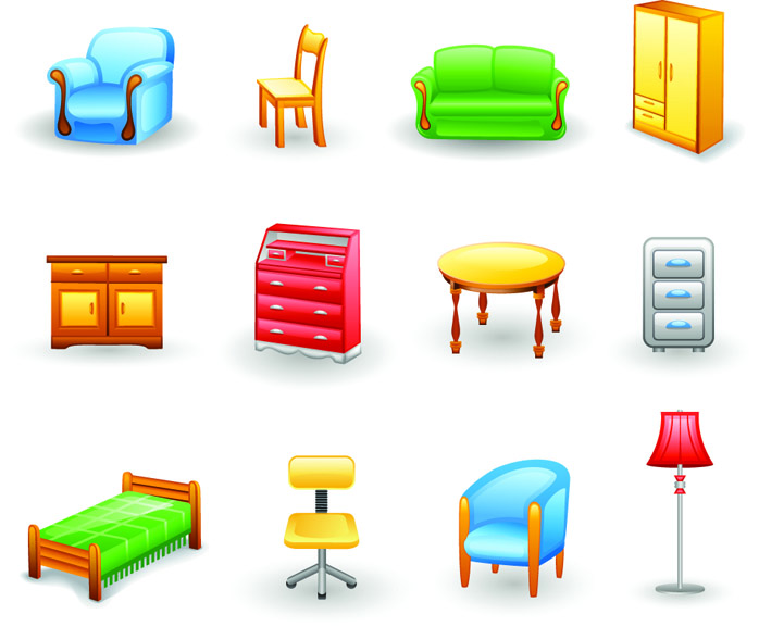 Rounded furniture icon vector Free Vector / 4Vector