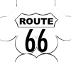 free vector Route 66 Usa Highway clip art