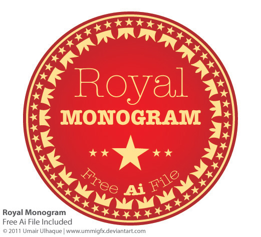 free vector Royal Monogram Vector
