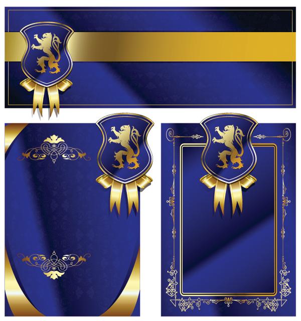 free vector Royal shield ribbon card vector