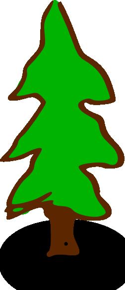 free vector Rpg Map Symbols Tree clip art 110420