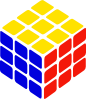 free vector Rubik's Cube Simple clip art