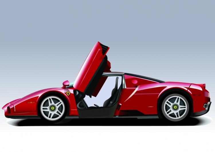free vector Run sports car