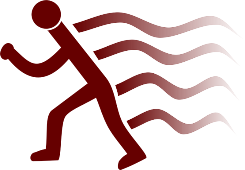free vector Runner simple with wake marks