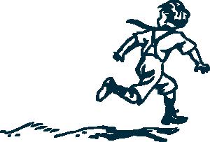 free vector Running Boy clip art