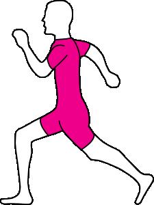 free vector Running Man clip art