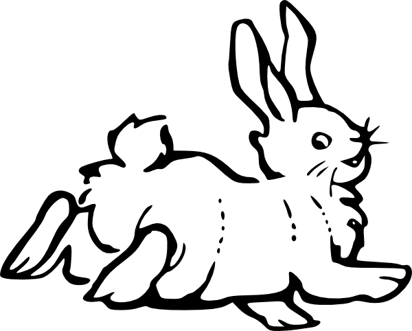 free vector Running Rabbit Outline clip art