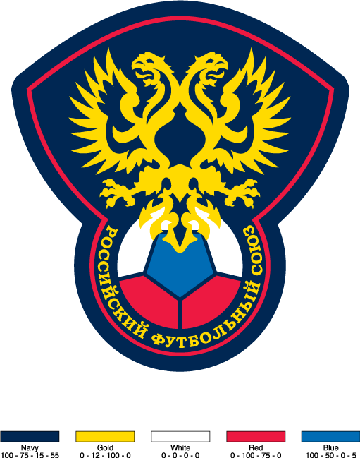 free vector Russian football union logo