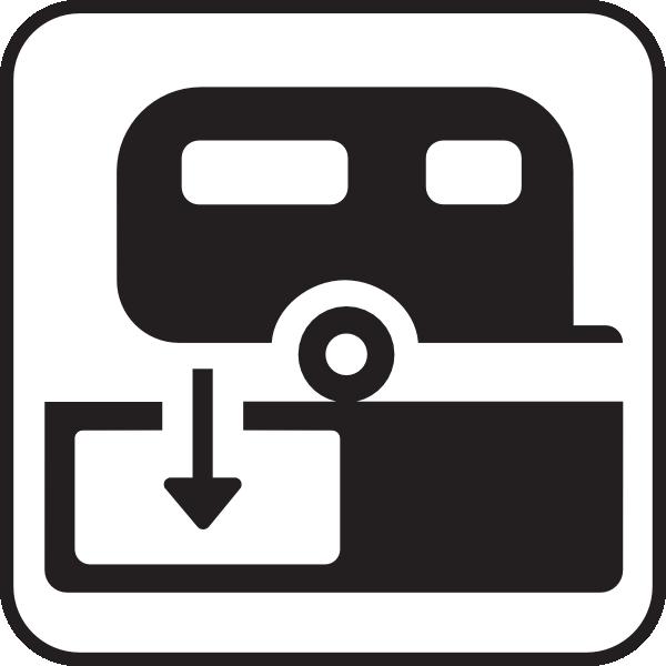free vector Rv Empty Station clip art
