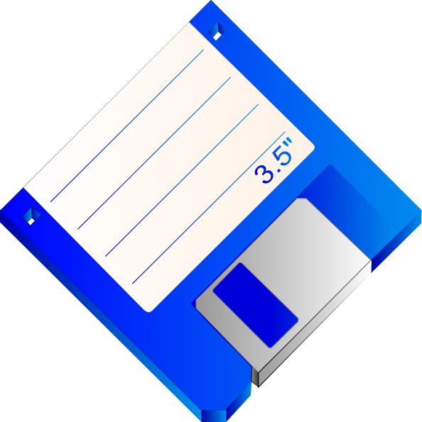 free vector Sabathius Floppy Disk Blue Labelled clip art