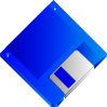 free vector Sabathius Floppy Disk Blue No Label clip art