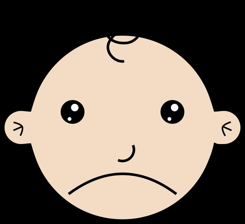 free vector Sad baby
