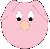 free vector Sad Piggy clip art