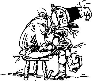 Sad Scarecrow clip art (108385) Free SVG Download / 4 Vector
