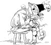 free vector Sad Scarecrow clip art