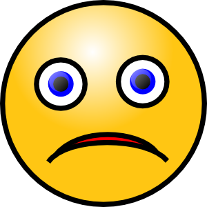 free vector Sad Smiley clip art