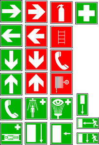 free vector Safety And Security Symbols clip art
