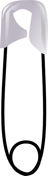 free vector Safety Pin clip art