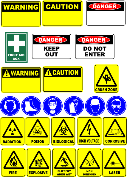 free vector Safety Signs clip art