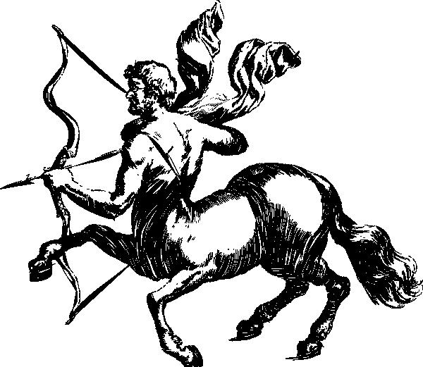 free vector Saggitarius Simplified clip art