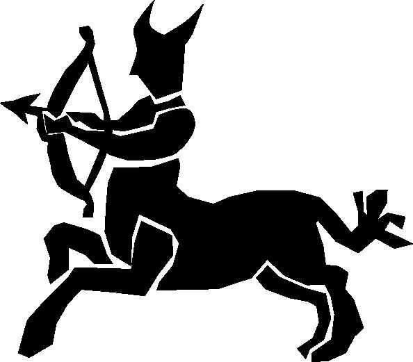 free vector Sagittarius clip art