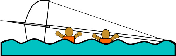 free vector Sailing Capsized Rescue Illustrations clip art
