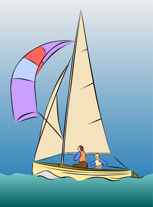 free vector Sailing Dinghy