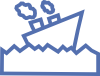 free vector Sailing Motor Ship clip art