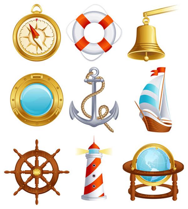 free vector Sailing small icon 02 vector