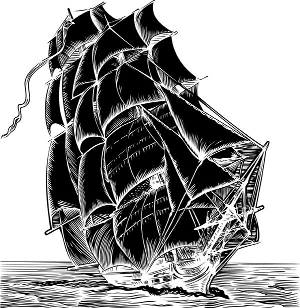 free vector Sailing theme vector