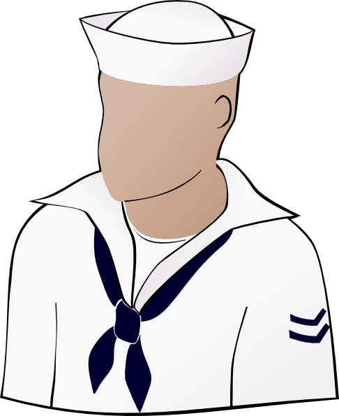 free vector Sailor Face clip art