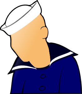 free vector Sailor Figure clip art