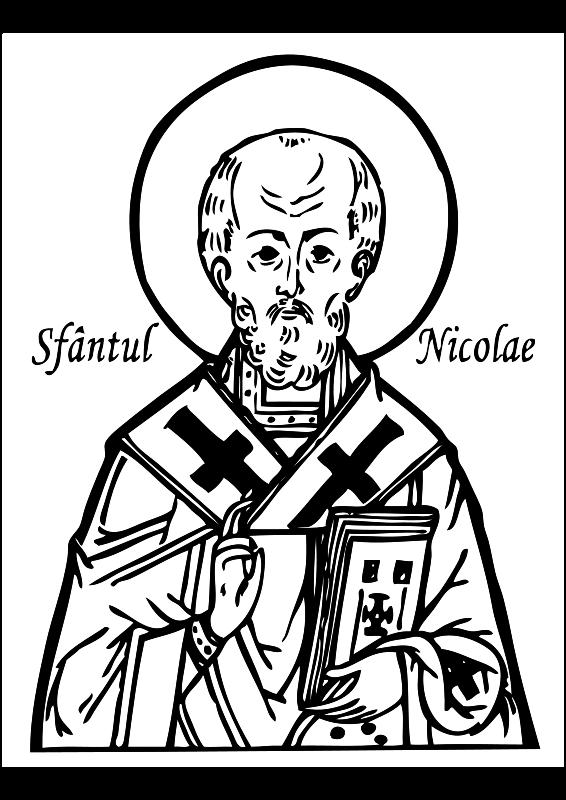 Saint nicholas free vector 4vector for St nicholas coloring pages