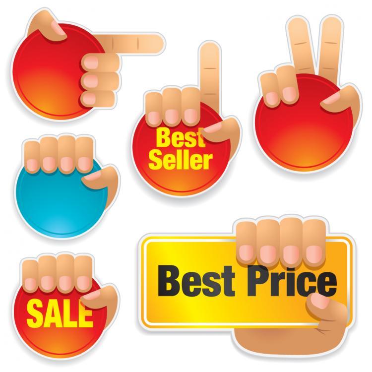 free vector Sales gesture vector