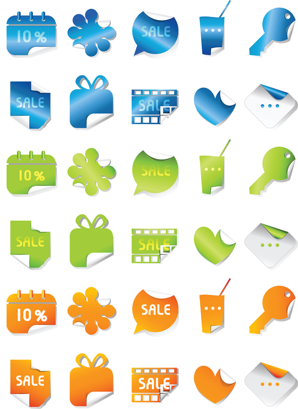 free vector Sales of graphics vector body stickers