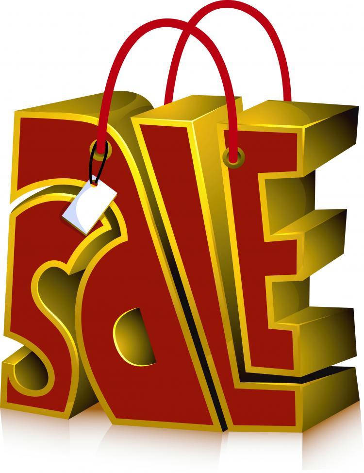 free vector Sales of threedimensional icon vector
