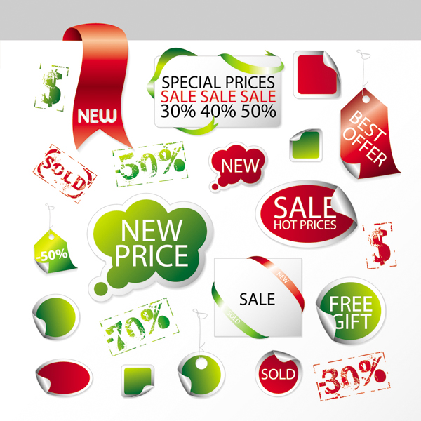 free vector Sales promotion tag vector