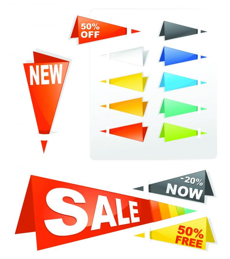free vector Sales tag origami 03 vector