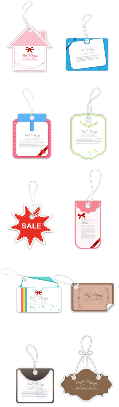 free vector Sales tag vector cute label