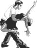 free vector Salsa Dancers clip art