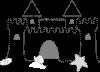 free vector Sand Castle clip art