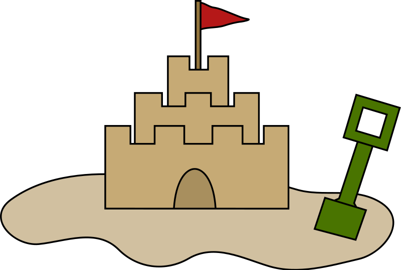 free vector Sand castle