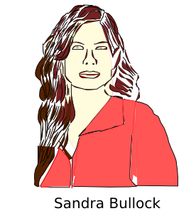 free vector Sandra Bullock clip art
