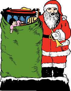 free vector Santa And His Bag clip art