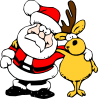 free vector Santa And Reindeer clip art