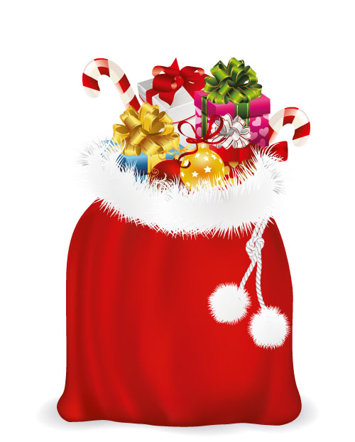 santa claus gift bag images