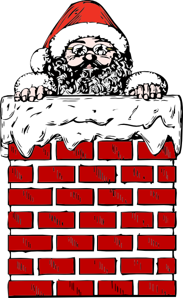 free vector Santa In A Chimney clip art