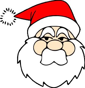 free vector Santa Line Art clip art